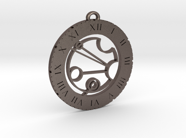 Justin - Pendant in Polished Bronzed Silver Steel