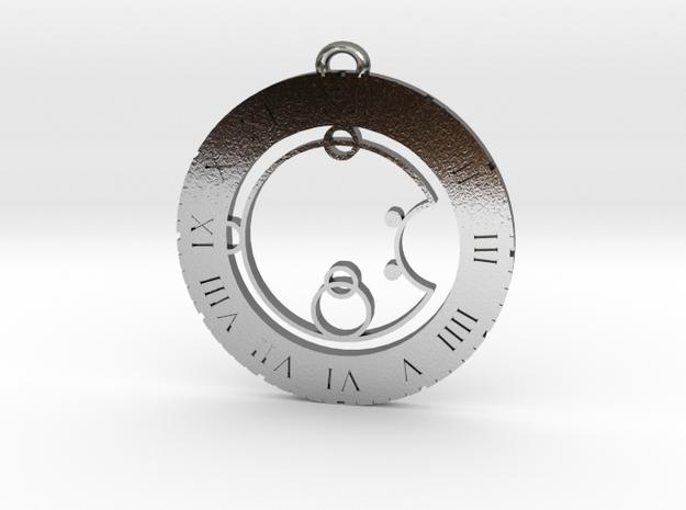 Joshua - Pendant in Polished Silver