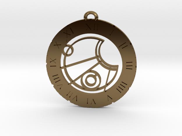 Jesse - Pendant in Polished Bronze