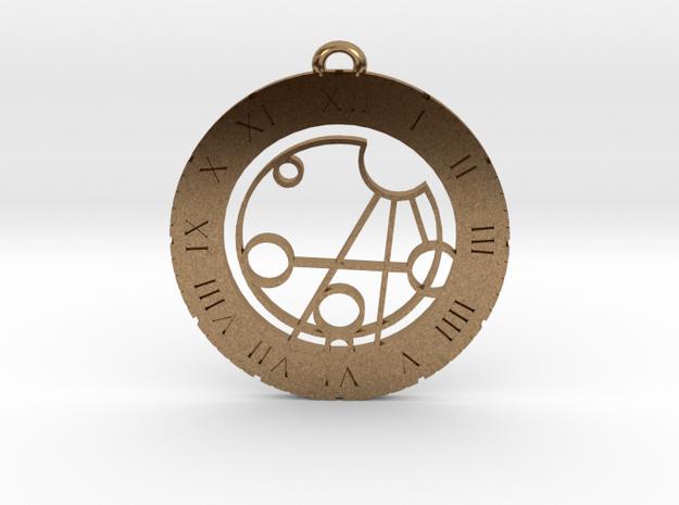 Jaxson - Pendant in Raw Brass