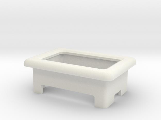 Voltmeter Cradle V1 - Modmaker Voltage Displays in White Strong & Flexible