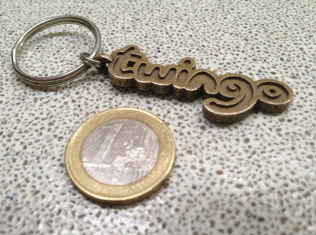 Twingo Keychain in Stainless Steel