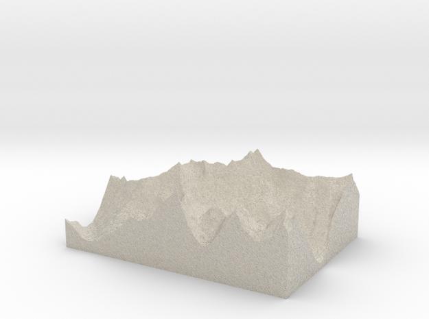 Model of Lake Blethen in Sandstone