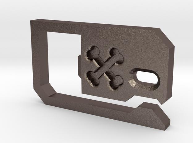 Belt Loop Key Hook Bottle Opener in Stainless Steel