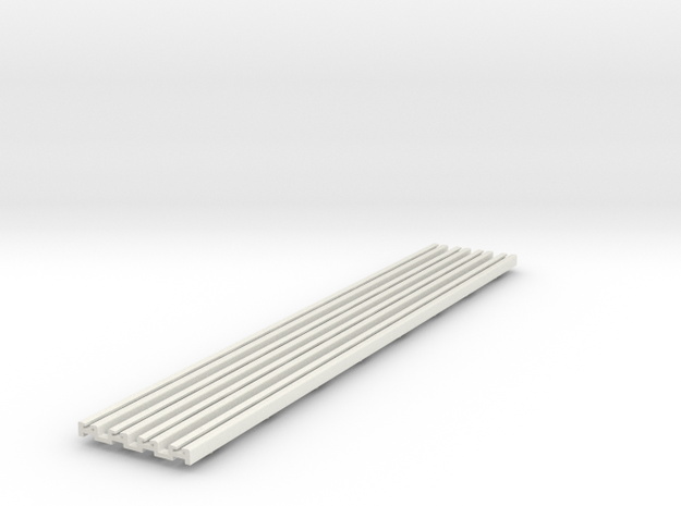 R-165-straight-bridge-rail-long-100-1a-x4 in White Natural Versatile Plastic