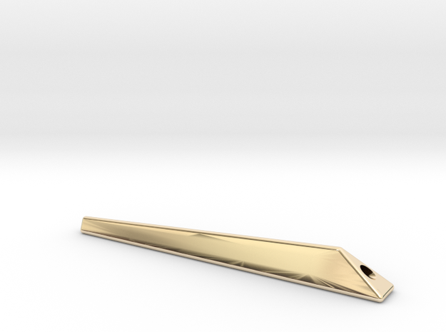 For iPhone Bumper 「truss」  Stand strap bar in 14K Yellow Gold