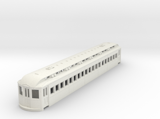 O Scale L&WV Coach- Long Body Shell in White Strong & Flexible