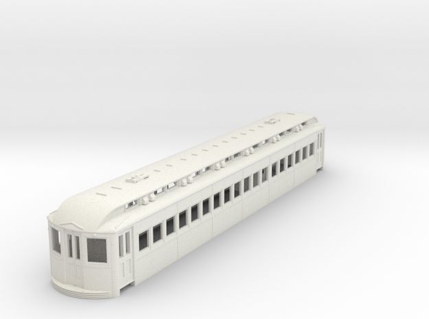 O Scale L&WV Short Steel Coach body in White Natural Versatile Plastic