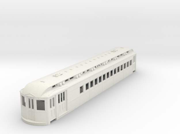 O Scale L&WV Combine-Short BODY in White Strong & Flexible