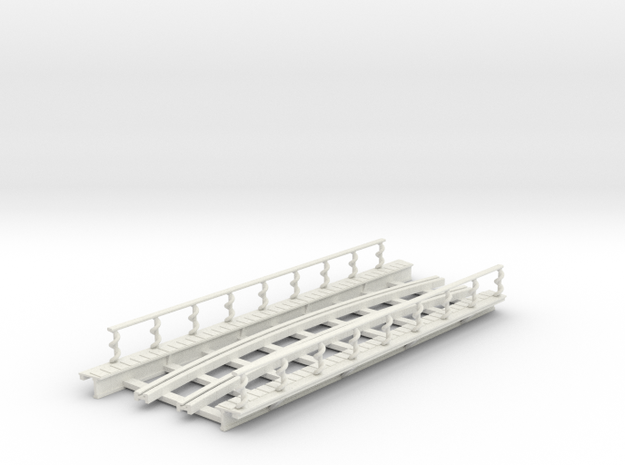 R-165-curve-2r-bridge-track-long-plus-walkway-sp-2 in White Natural Versatile Plastic