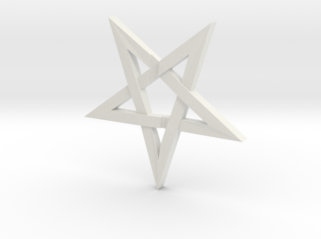 LaVey's Sigil Star Ornament (Part 1 of 2) in White Natural Versatile Plastic