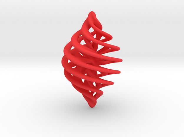Entanglement Bauble in Red Processed Versatile Plastic