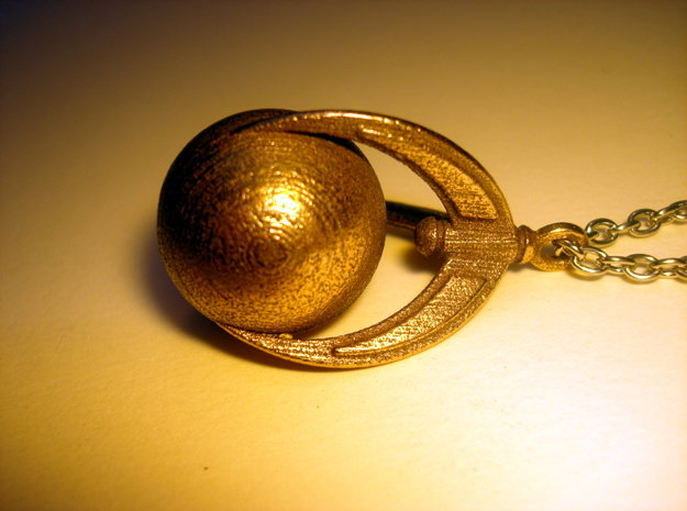 Ball And Claws Pendant in Polished Bronzed Silver Steel
