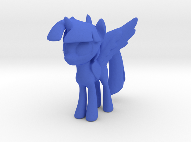 Little Pony With Wings  in Blue Processed Versatile Plastic