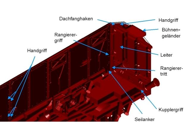 2301 1/160 Gedeckter Fährbootwagen Gbtmks66 der DB 3d printed Zurüstteile
