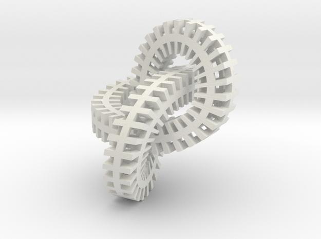 mobius metal in White Natural Versatile Plastic