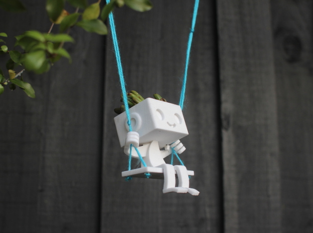 Hanging Planter Robbie the Robot Swing