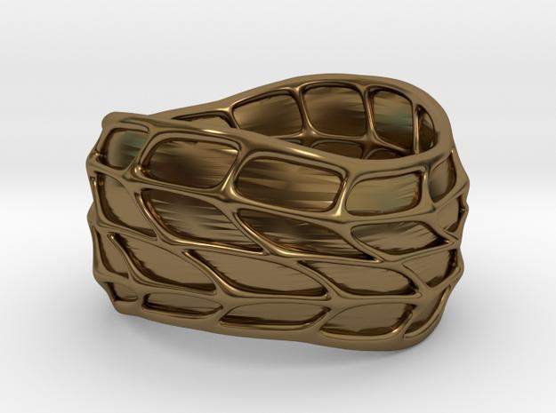 Panel Twist Ring (sz 7) 3d printed