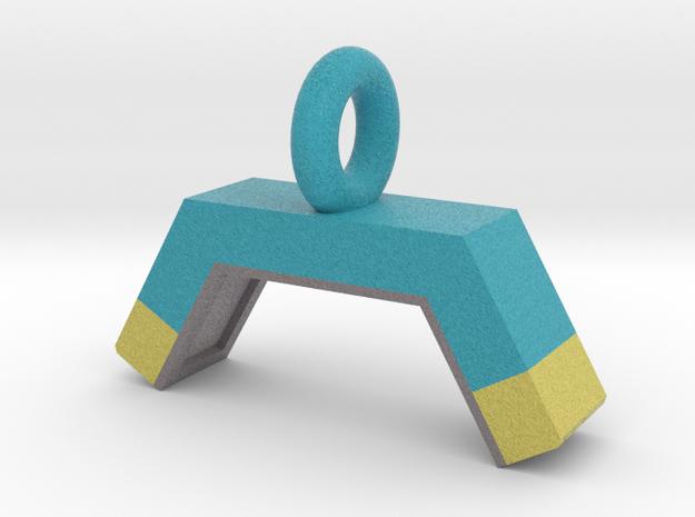 Agility Dog Walk Pendant (Blue Version) in Full Color Sandstone