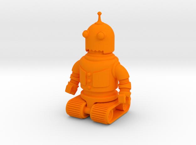 Robot Toy in Orange Processed Versatile Plastic: Small