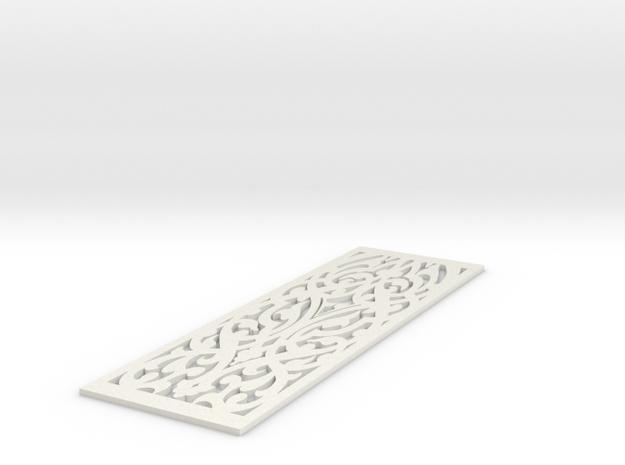 Intricacy  Bookmark in White Natural Versatile Plastic
