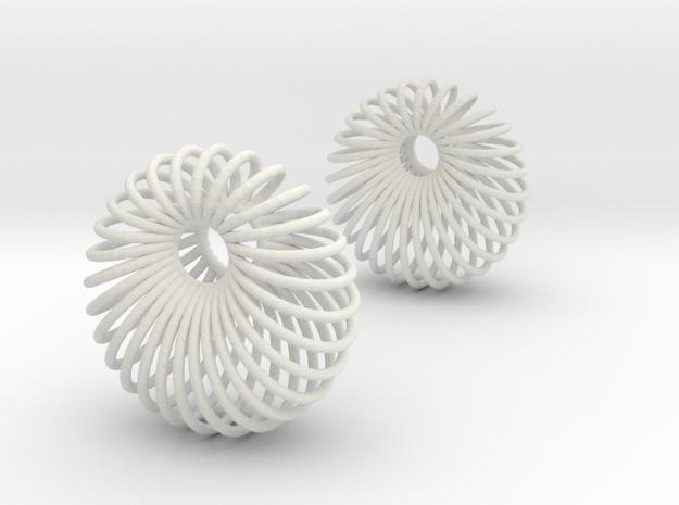Wired Beauty 6 Hoop Earrings 30mm in White Natural Versatile Plastic