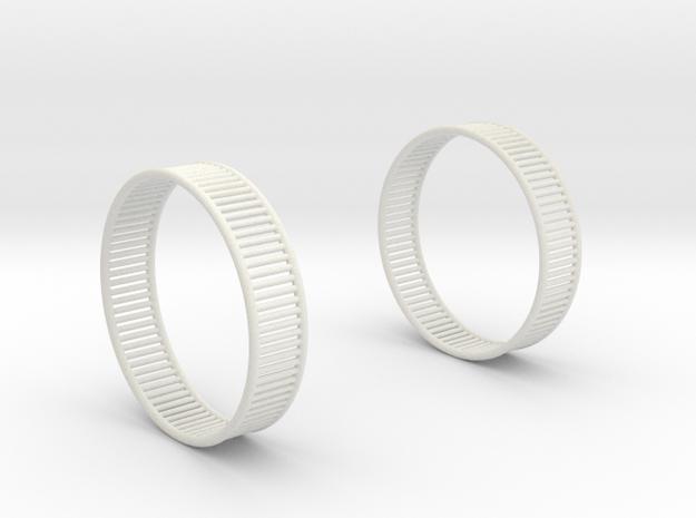 Wired Beauty 8 Hoop Earrings 40mm in White Natural Versatile Plastic