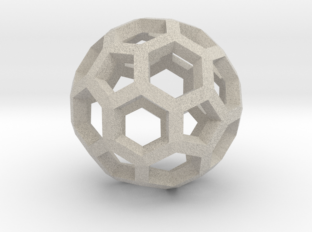 Soccerball pendiente in Natural Sandstone
