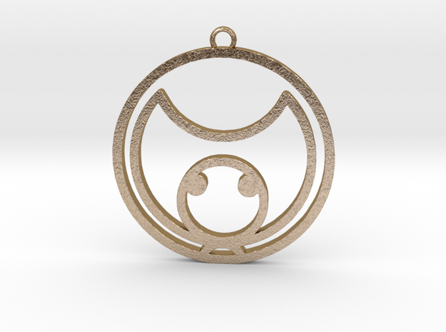 Kat - Necklace in Polished Gold Steel