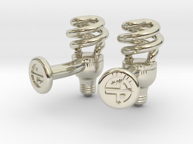 CFL Bulb Cufflinks 3d printed