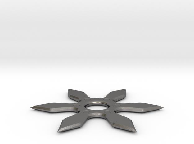 shuriken, ninja weapon in Polished Nickel Steel