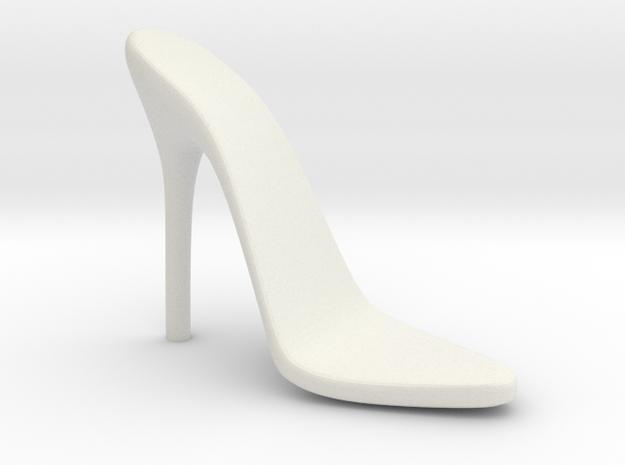 Women High Heel Base Left Shoe in White Natural Versatile Plastic