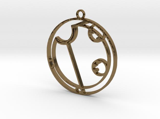 Alyssa - Necklace in Polished Bronze