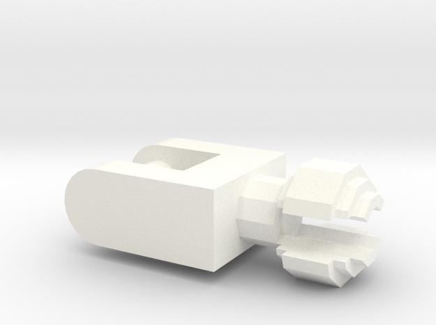 Sucker connector for Fish Ring Feeder in White Processed Versatile Plastic
