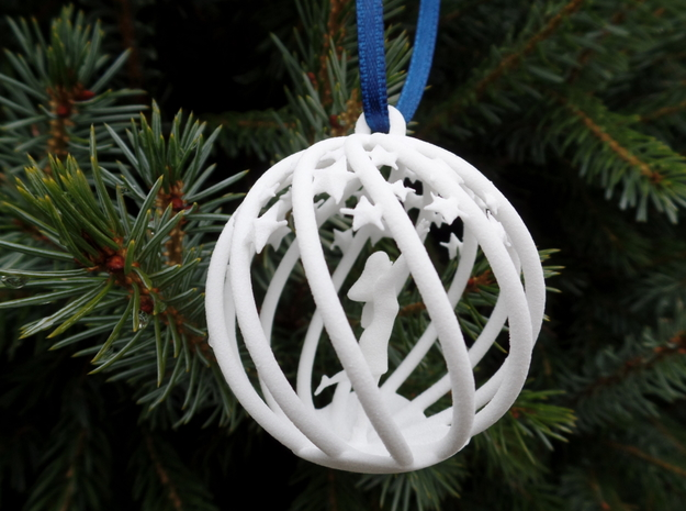 Reach the Stars Christmas Bulb small in White Strong & Flexible