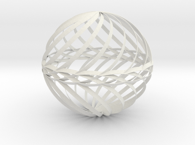 Decorative Ball Twist Spiral V1 in White Natural Versatile Plastic