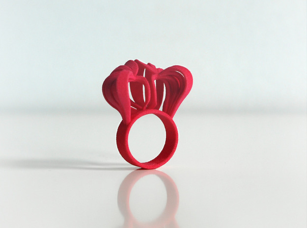 Pumpkin Ring Size 8 3d printed Pink