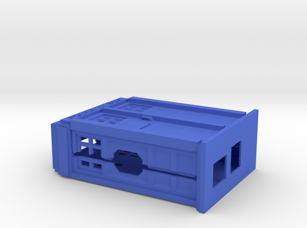 Raspberry Pi case in the shape of a Police Box