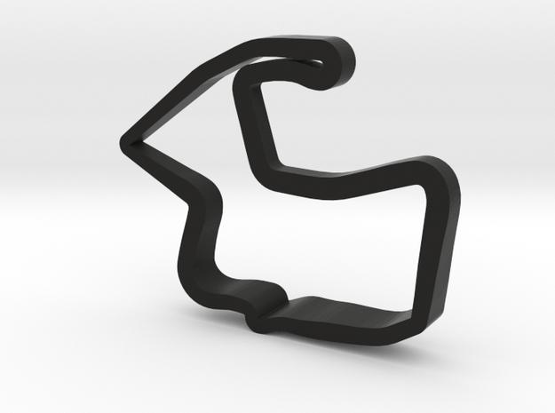 Mazda Raceway Laguna Seca Model in Black Natural Versatile Plastic