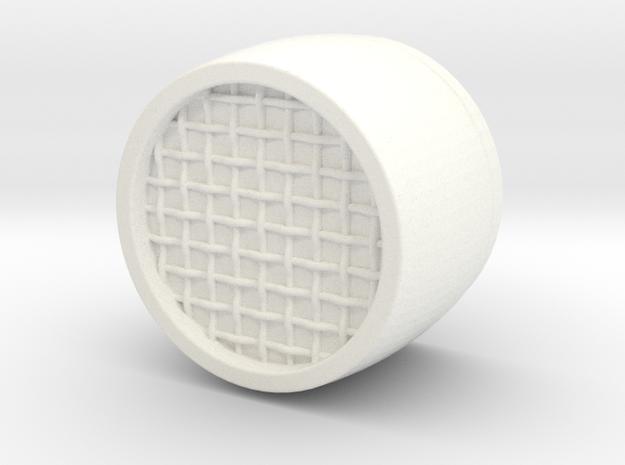 Biker Aerator Scaled 0.8 in White Processed Versatile Plastic