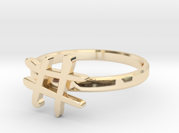 Hashtag Ring Size 6 in 14K Gold