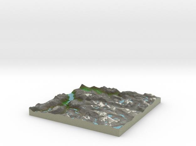 Terrafab generated model Mon Oct 06 2014 10:13:41  in Full Color Sandstone