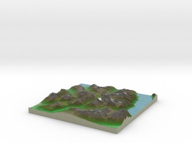 Terrafab generated model Mon Oct 13 2014 21:07:36  in Full Color Sandstone