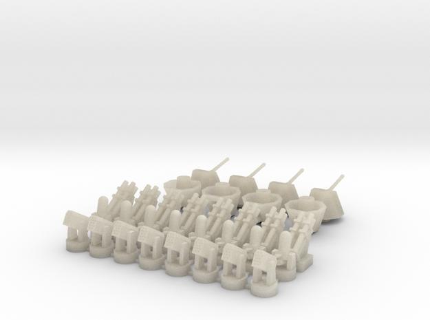 Harpoon+CIWS+RAM+Oto Melara (x8) in White Acrylic