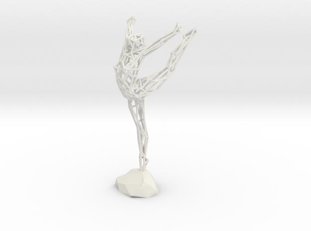 Wireframe Ballerina in White Natural Versatile Plastic
