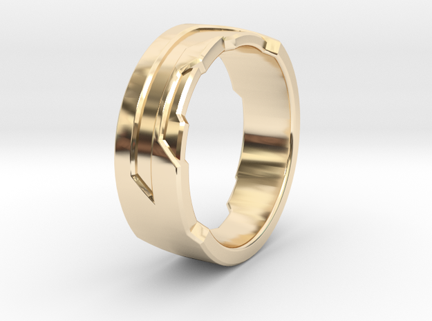 Ring Size Q in 14K Yellow Gold