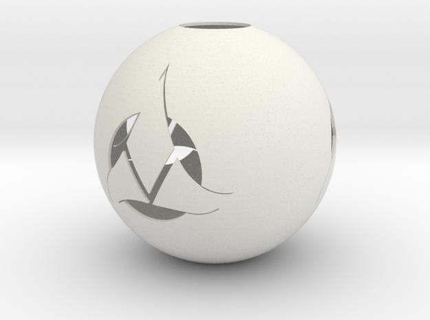 Klingon Ornament in White Strong & Flexible