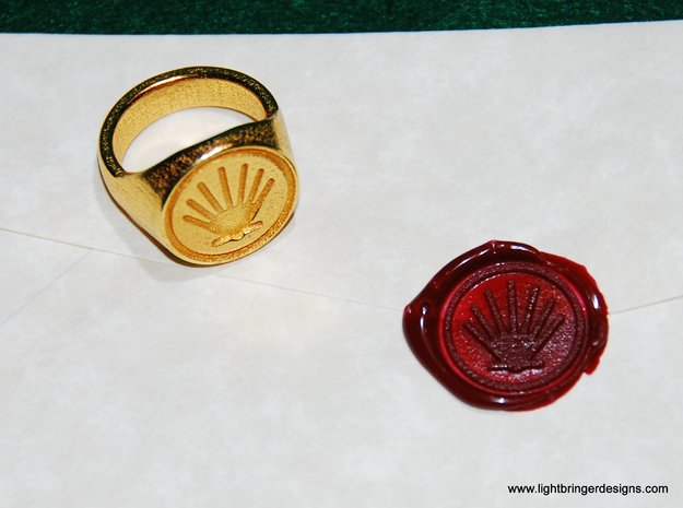 Custom Signet Ring 3d printed This order came all the way from Wales.