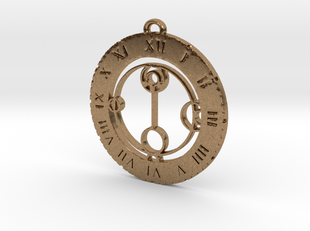 Nathalie - Pendant in Natural Brass