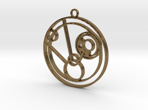 Mollie - Necklace in Raw Bronze